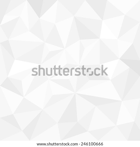 Abstract white background with triangles - stock vector