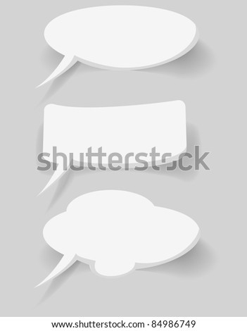 abstract white bubbles on blue background - stock vector