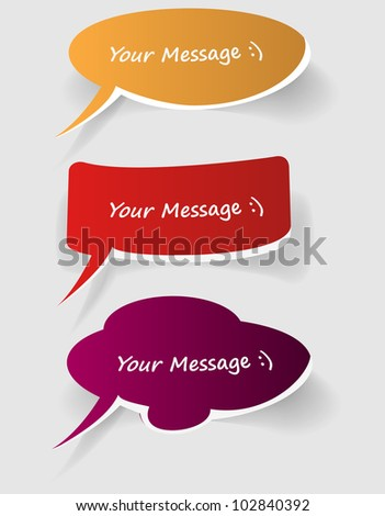 abstract white bubbles on blue background - vector illustration eps10 - stock vector