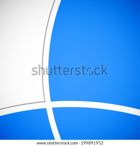 abstract white curve pattern on blue sky background (vector)