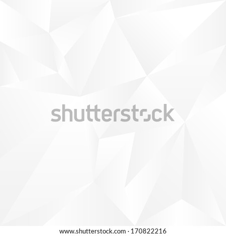 Abstract white geometric background. Vector Illustration  - stock vector
