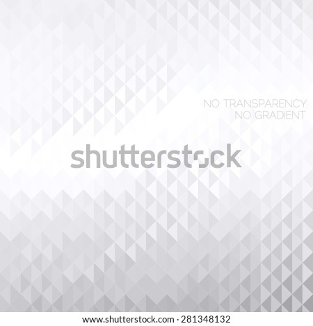 Abstract white & grey geometric background with copyspace area - stock vector