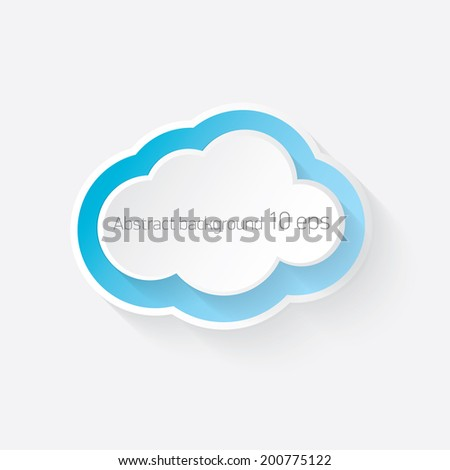 abstract white Paper clouds background with shadows. Vector illustration of white cloud . Eps10.