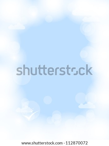abstract white shining cloud vector background - stock vector