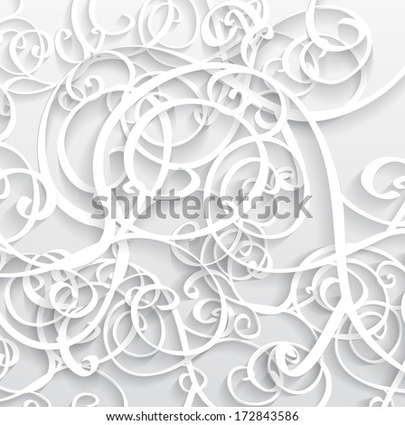 Abstract white Vector Background 3D - stock vector