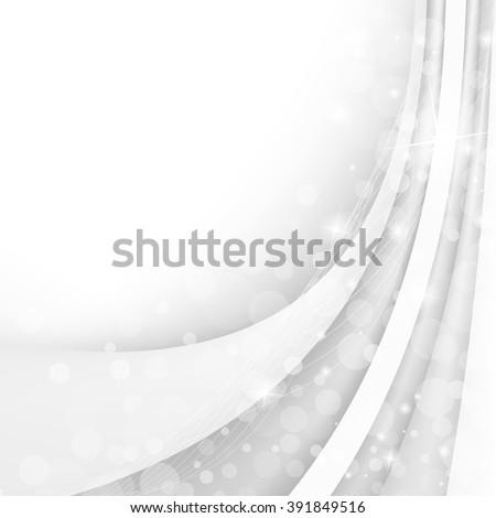 Abstract white waves - data stream concept. Vector. Clip-art - stock vector