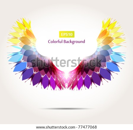 Abstract Wings - stock vector