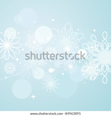 Abstract winter background - stock vector