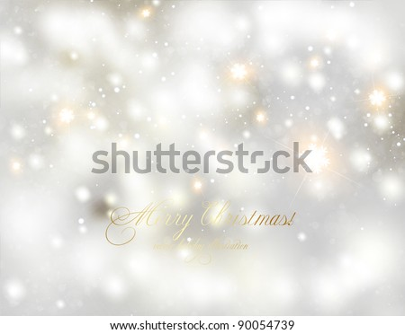 Abstract Winter background.Christmas abstract bokeh. Vector - stock vector