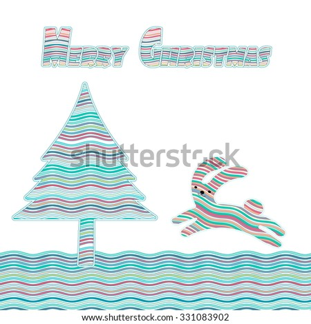 Abstract Winter background. The Christmas resume