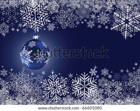Abstract Winter Blue Background - stock vector
