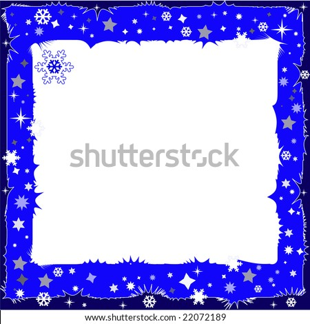 Abstract winter dark blue background with a place for an inscription (vector)