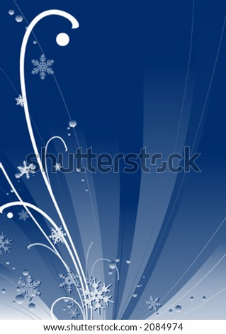 Abstract winter design - stock vector