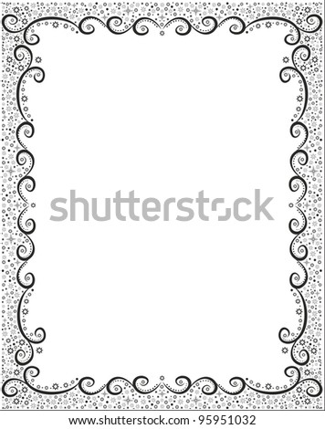 Abstract winter holiday frame