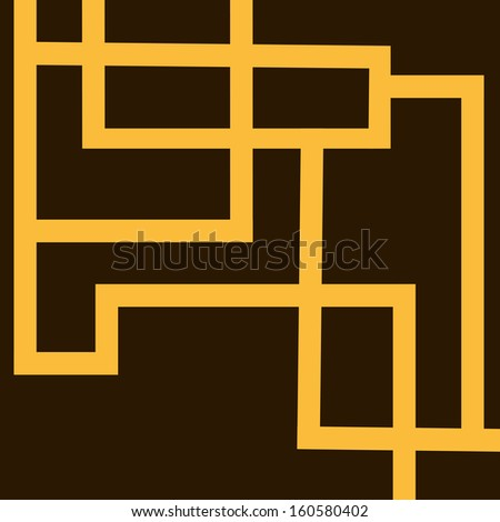 Abstract with yellow strips in brown background.EPS10