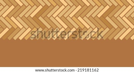 Abstract wooden floor panels horizontal seamless pattern background - stock vector