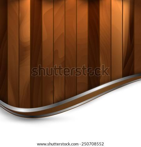 abstract wooden textured vector template. Eps10 - stock vector