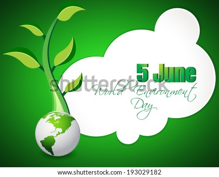 abstract world environment day concept background - stock vector
