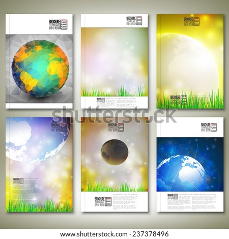 Abstract world globe background. Brochure, flyer or report for business, template vector. - stock vector