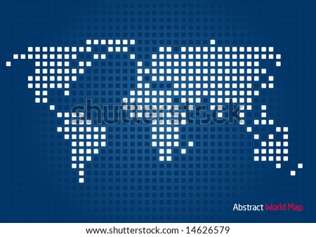 Abstract World Map - stock vector