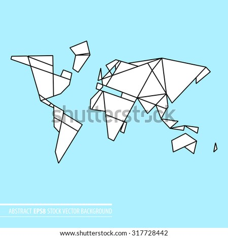 Abstract world map stock vector 317728442 shutterstock abstract world map gumiabroncs Gallery