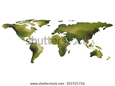 abstract world map background water color green tone design style vector background elements of this image furnished by NASA can you fill text or use in poster and advertisement - stock vector