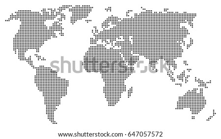 Abstract world map consisting black dots stock vector 647057572 abstract world map consisting of black dots circles isolated on white background vector eps10 gumiabroncs Images