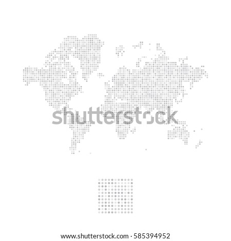 Abstract world map square dots flat stock vector 585431384 abstract world map in a round dots flat vector illustration eps 10 gumiabroncs Images