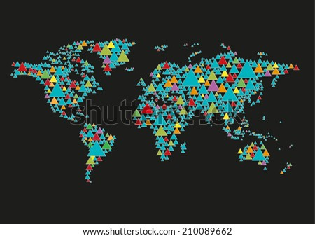 Abstract world map made stylized triangles vector stock vector hd abstract world map made of stylizedtriangles vector gumiabroncs Gallery