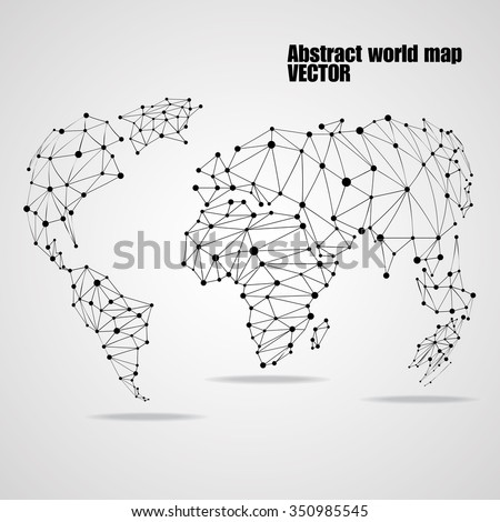 Abstract world map circles lines network vectores en stock 350985545 abstract world map with circles and lines network connections vector illustration eps 10 gumiabroncs Choice Image