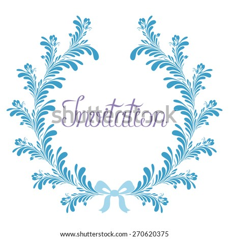 Abstract wreath invitation round flourish abstract stock vector abstract wreath invitation round flourish abstract frame elegant hand drawn text template for stopboris Image collections