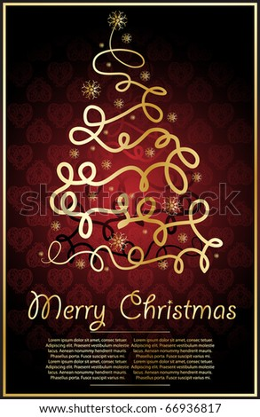 abstract xmas  illustration for  design - stock vector