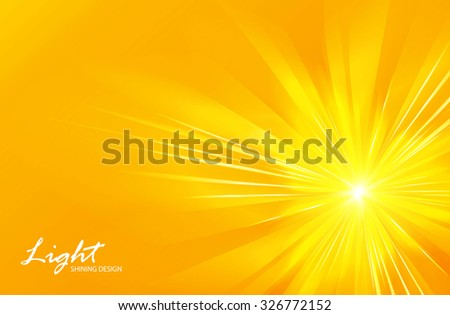 Abstract yellow background. Motion. Sunburst design. Vector illustration