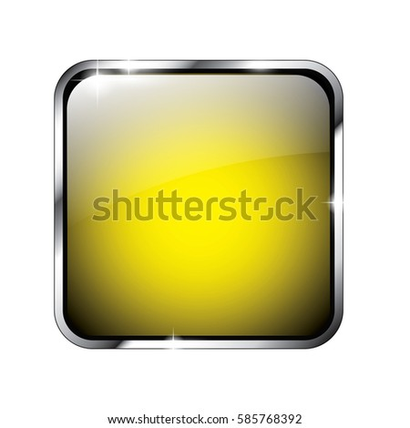 Abstract yellow background with a silver frame, with space for your text. Vector illustration.