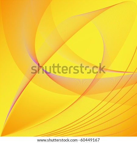 abstract yellow background with the chaotic forms - stock vector