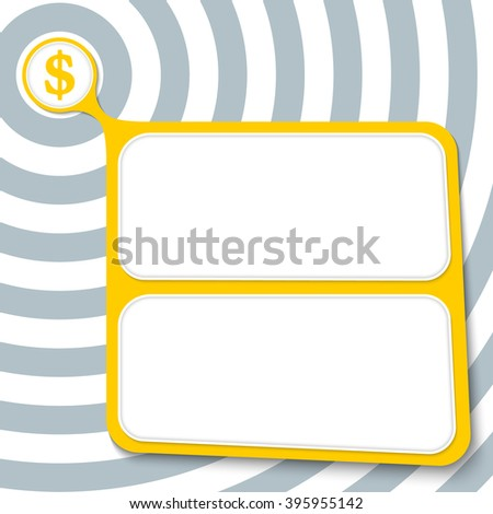Abstract yellow box for your text and dollar symbol - stock vector