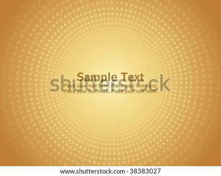 abstract yellow dotted background with place for text - stock vector
