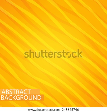 Abstract yellow lines paper style background - stock vector