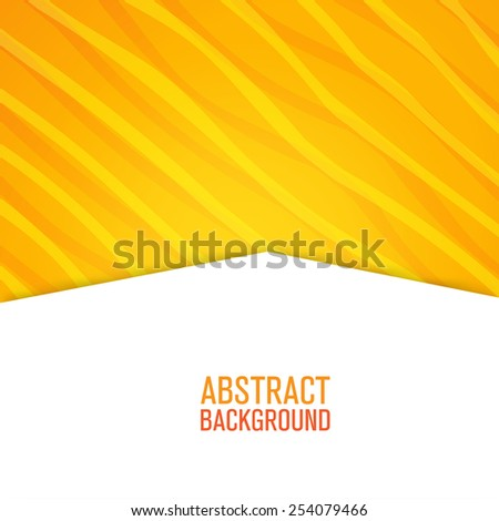 Abstract yellow lines paper style background for your project - stock vector