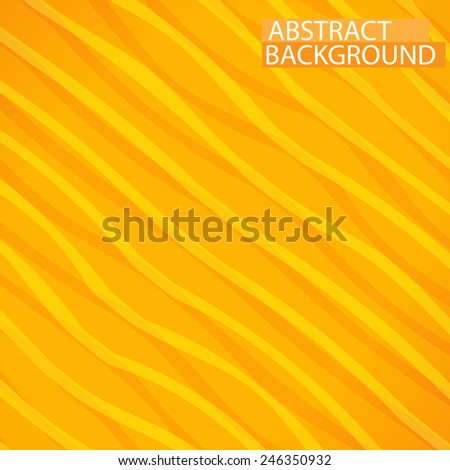 Abstract yellow lines paper style background isolated - stock vector