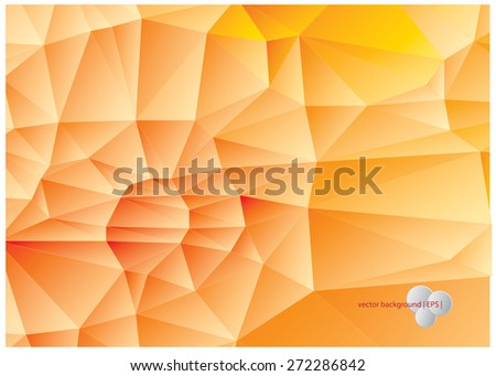 Abstract yellow & orange background consisting of polygons. - stock vector
