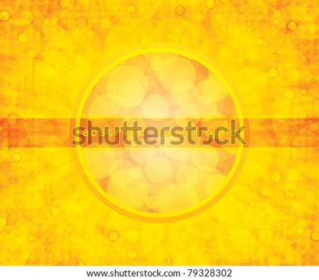 Abstract yellow summer background - stock vector