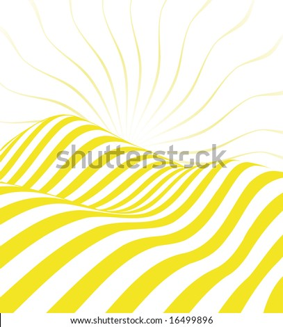Abstract Yellow Valley - stock vector