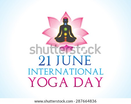 abstract yoga day background vector illustration - stock vector
