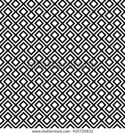 abstract zigzag and rhombus pattern background.geometric black and white.native pattern.tribal vector - stock vector