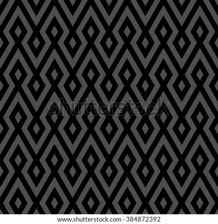 abstract zigzag and rhombus pattern background with monochrome - stock vector