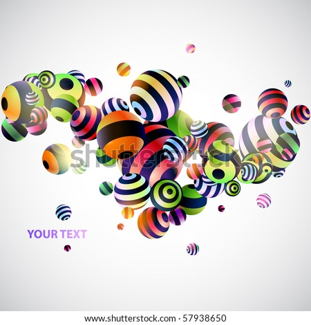 abstraction 3d background - stock vector