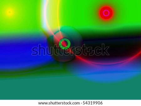 Abstraction illustration - stock vector