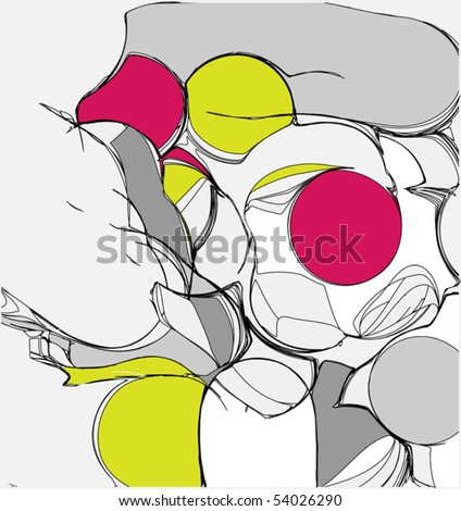 Abstraction of person - stock vector