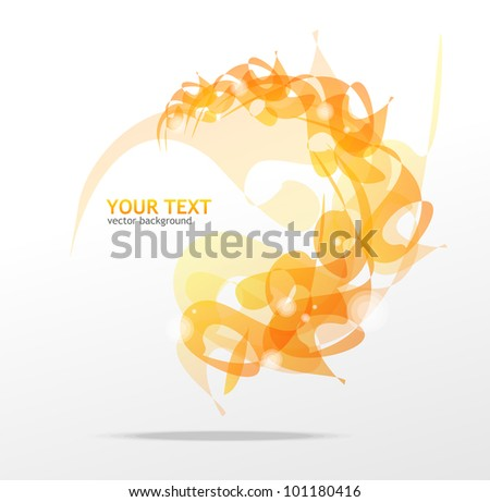 Abstraction orange background - stock vector